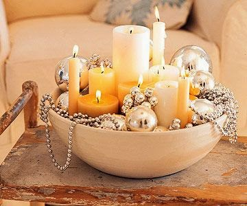 Quick And Stylish Oscars Viewing Party Decorating Ideas; candle centerpiece