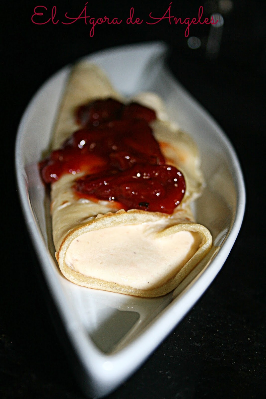 crep salada, brandada de bacalao
