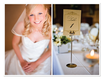 real wedding gold black flourish diy
