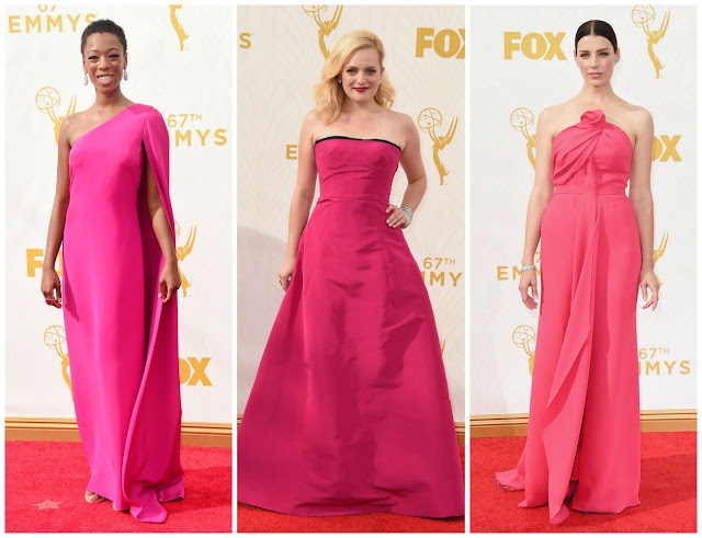 pink, trend, color, emmys, samira wiley, elizabeth moss, jessica pare
