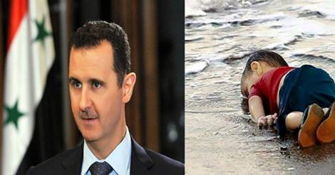 أول تصريح من بشار الاسد بعد عرض صور الطفل السورى إيلان