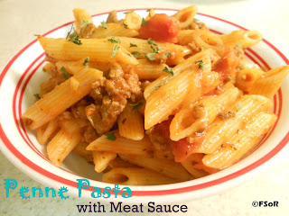 Penne Pasta with Meat Sauce | A quick, simple dish that's meat sauce is outrageously delicious #recipe #pasta