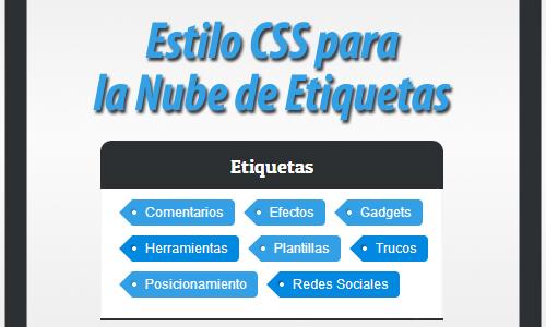 Personalizar la Nube de Etiquetas con CSS