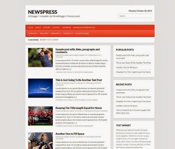 Newspress Blogger Template