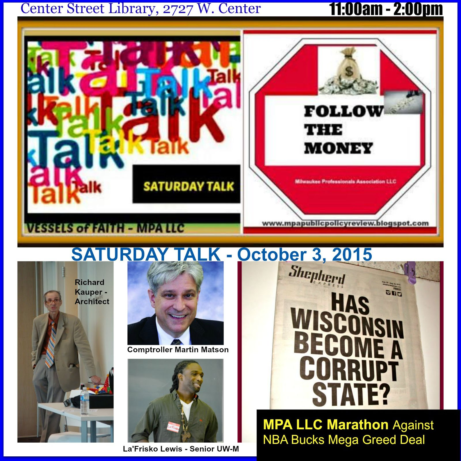 FOLLOW THE MONEY OCTOBER 3, 2015 - SATURDAY TALK