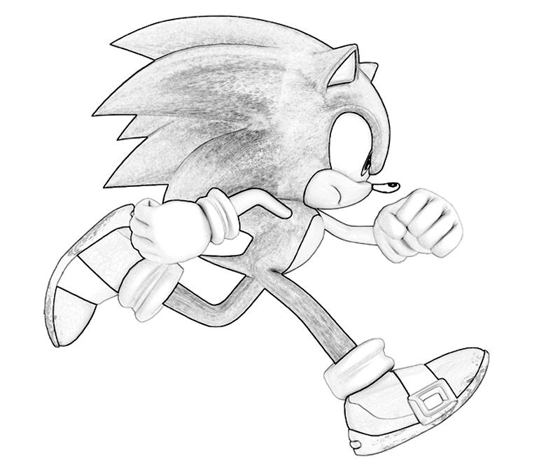 Sonic Generations Sonic The Hedgehog Run Coloring Pages title=