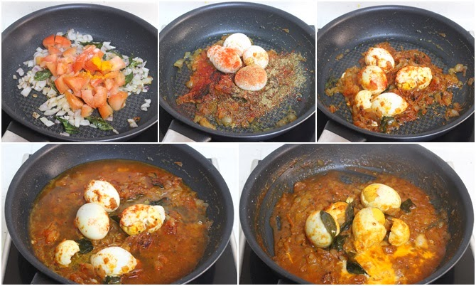 how to make egg curry with tomato gravy