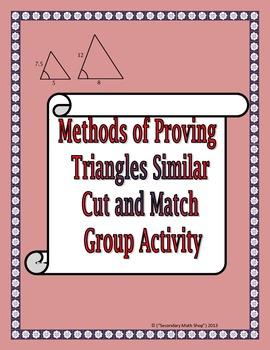 Similar Triangles Cut And Match Activity Mrs E Teaches Math