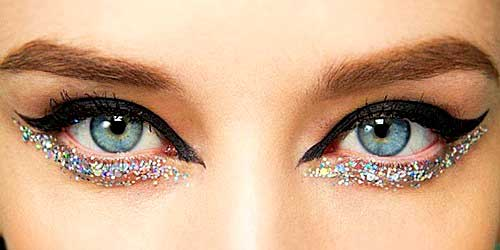 maquillaje glitter noche