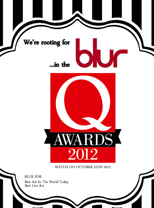 blur qawards, q awards 2012, blur brits, blur awards