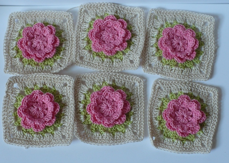 Lets Create Granny Square Roses