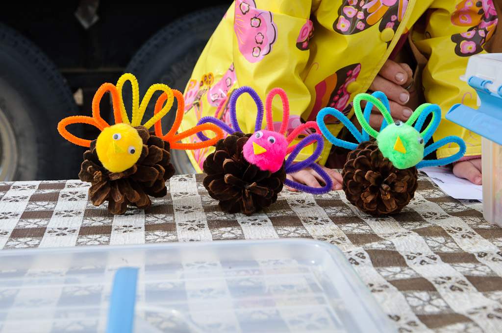 Craft time pipe cleaner turkey for Pipe cleaner turkey craft