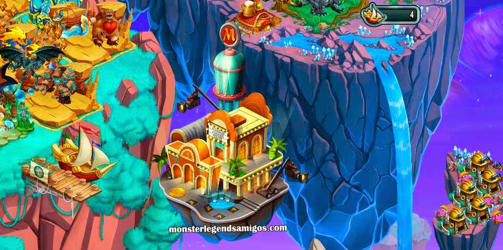 imagen de la isla de hollywood de monster legends