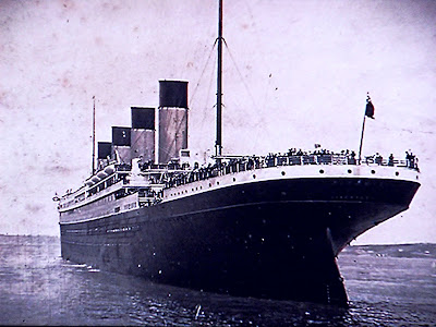 Picture of Titanic at sea on April 15 2012