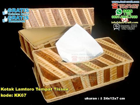 Kotak Lamtoro Tempat Tissue Karton Daun Lamtoro