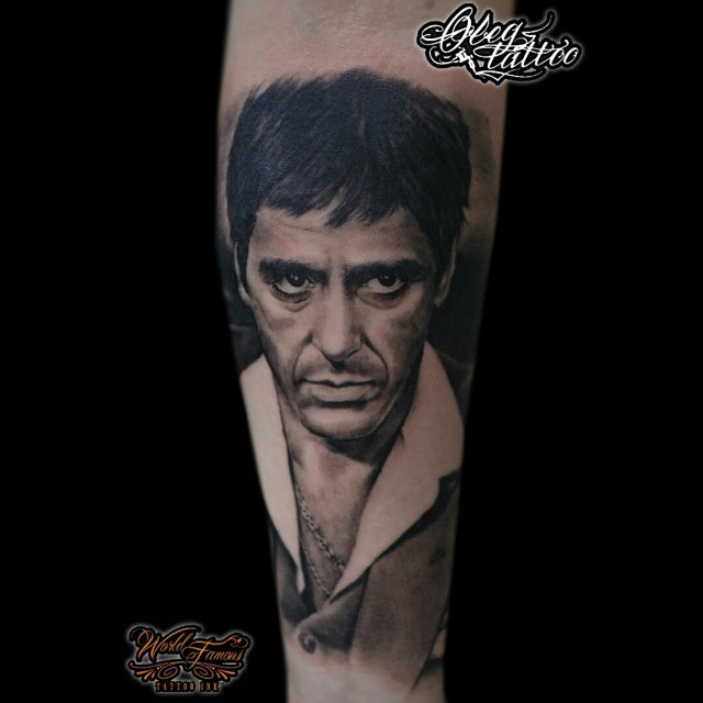 al pacino scarface arm tattoo tattoo geek ideas for
