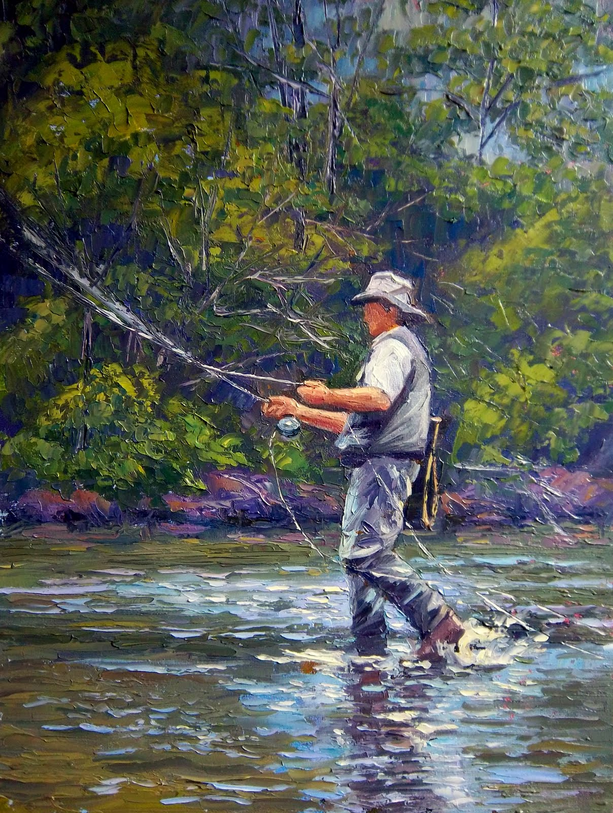 A painter 39 s journey june 2011 for Fly fishing near me