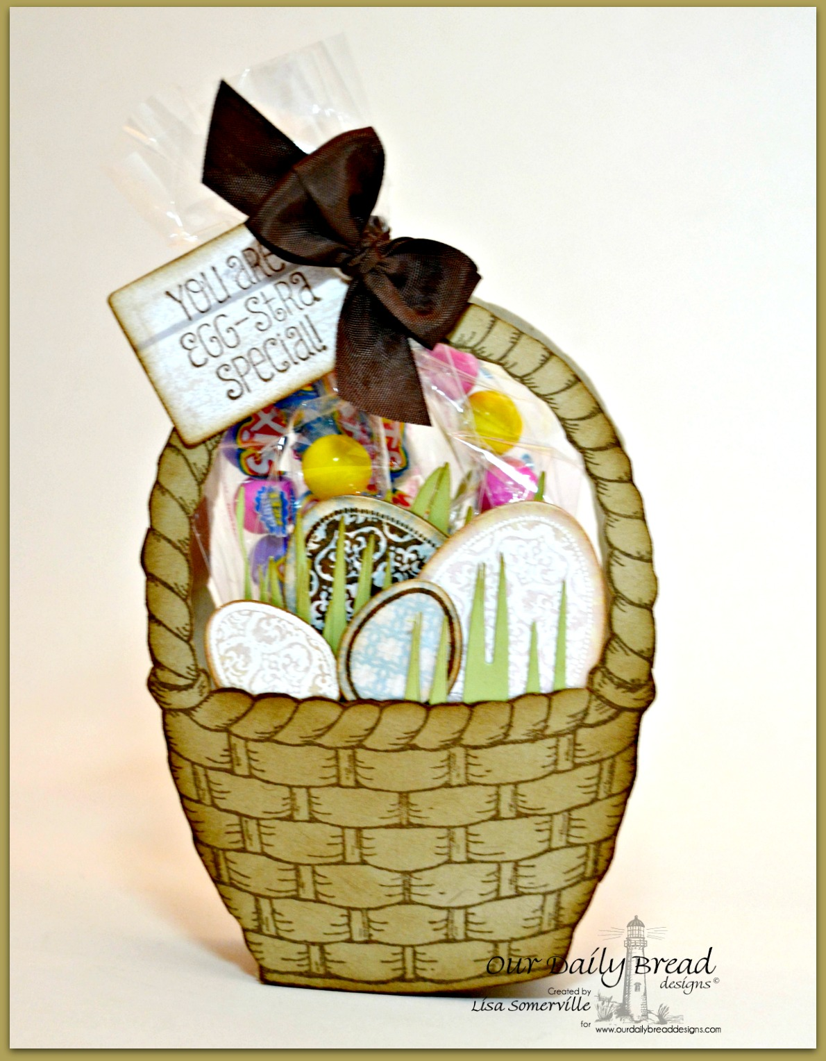 Stamps - Basket of Blessings, Blessed Easter, ODBD Shabby Rose Paper Collection, ODBD Custom Recipe Card and Tags Dies, ODBD Custom Egg Dies, ODBD Custom Grass Border Die