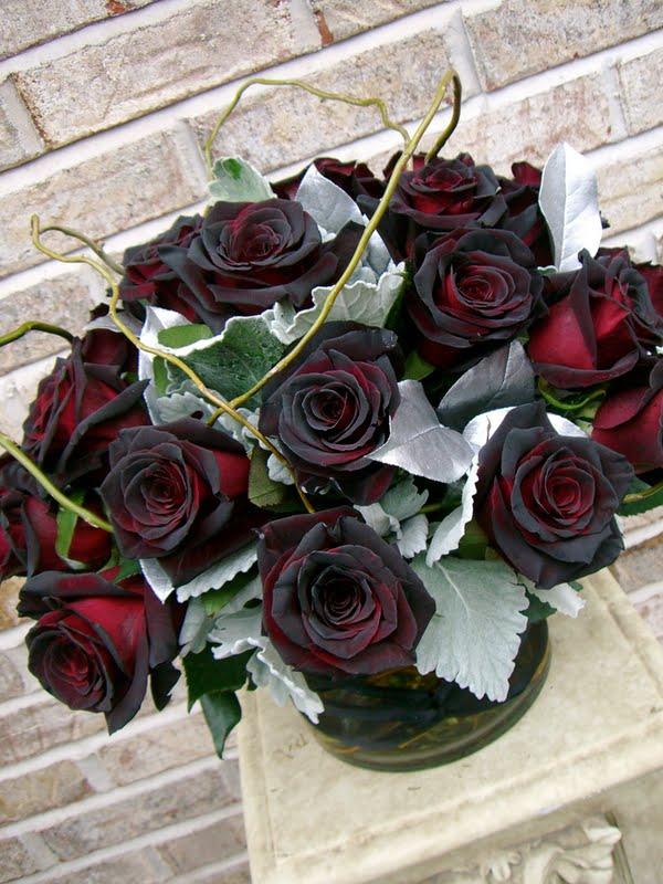 Как сделать розу чёрной 836