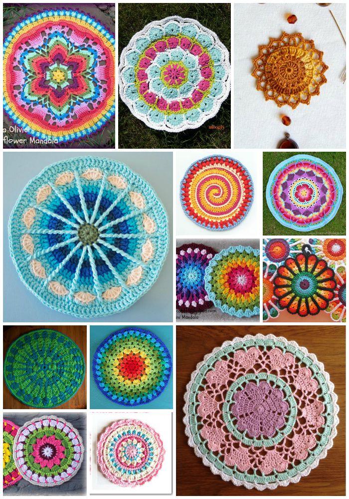 Excelente Crochet Patrón Mandala Regalo - Manta de Tejer Patrón de ...
