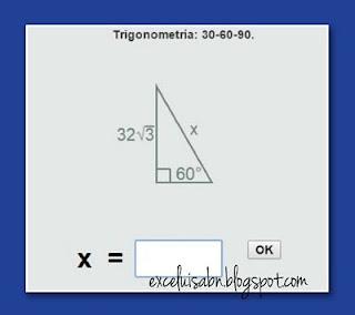 Resolución de un triángulo 30-60-90.