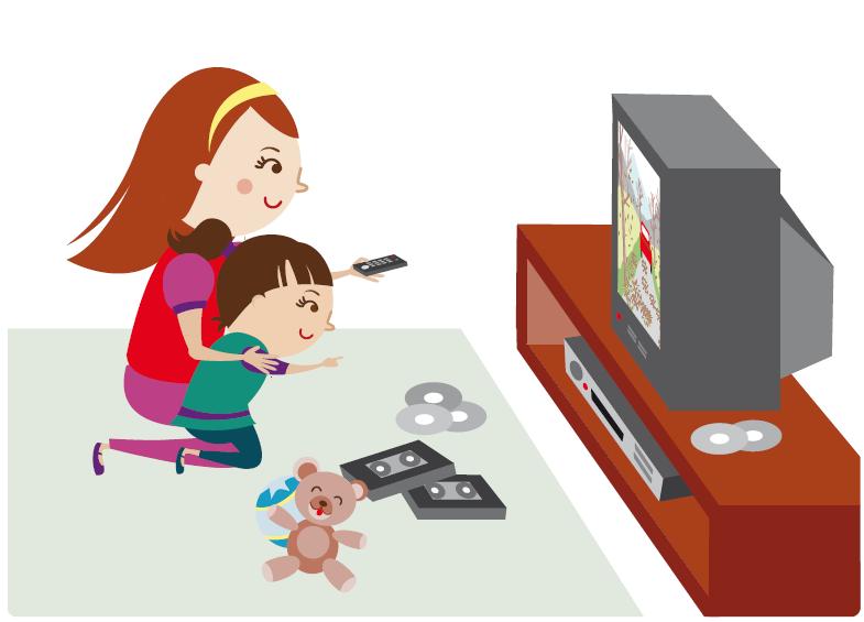 Dibujo de niño viendo television - Imagui