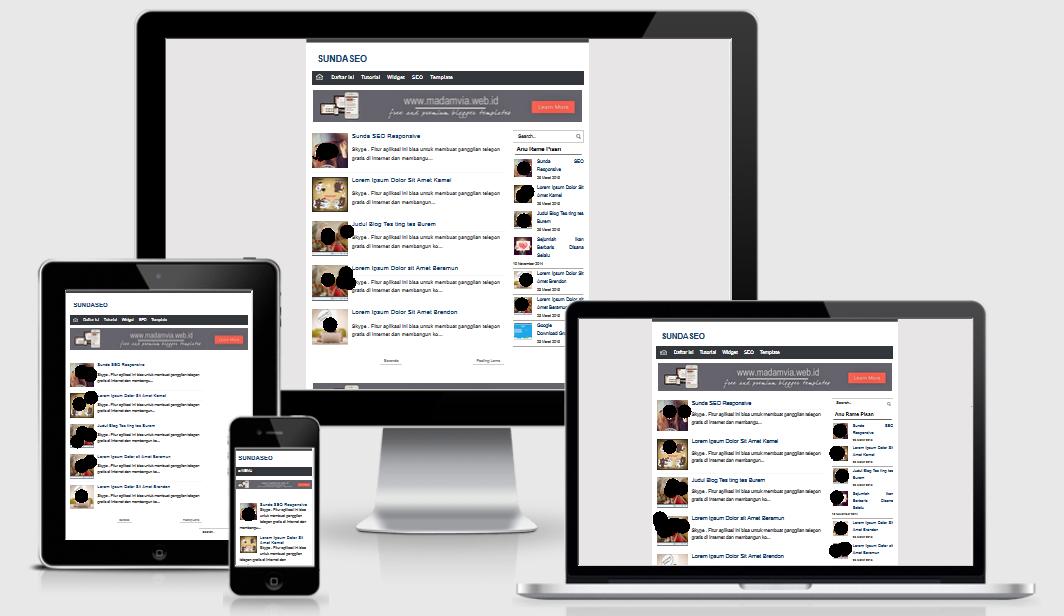 SundaSEO Responsive Blogger Template