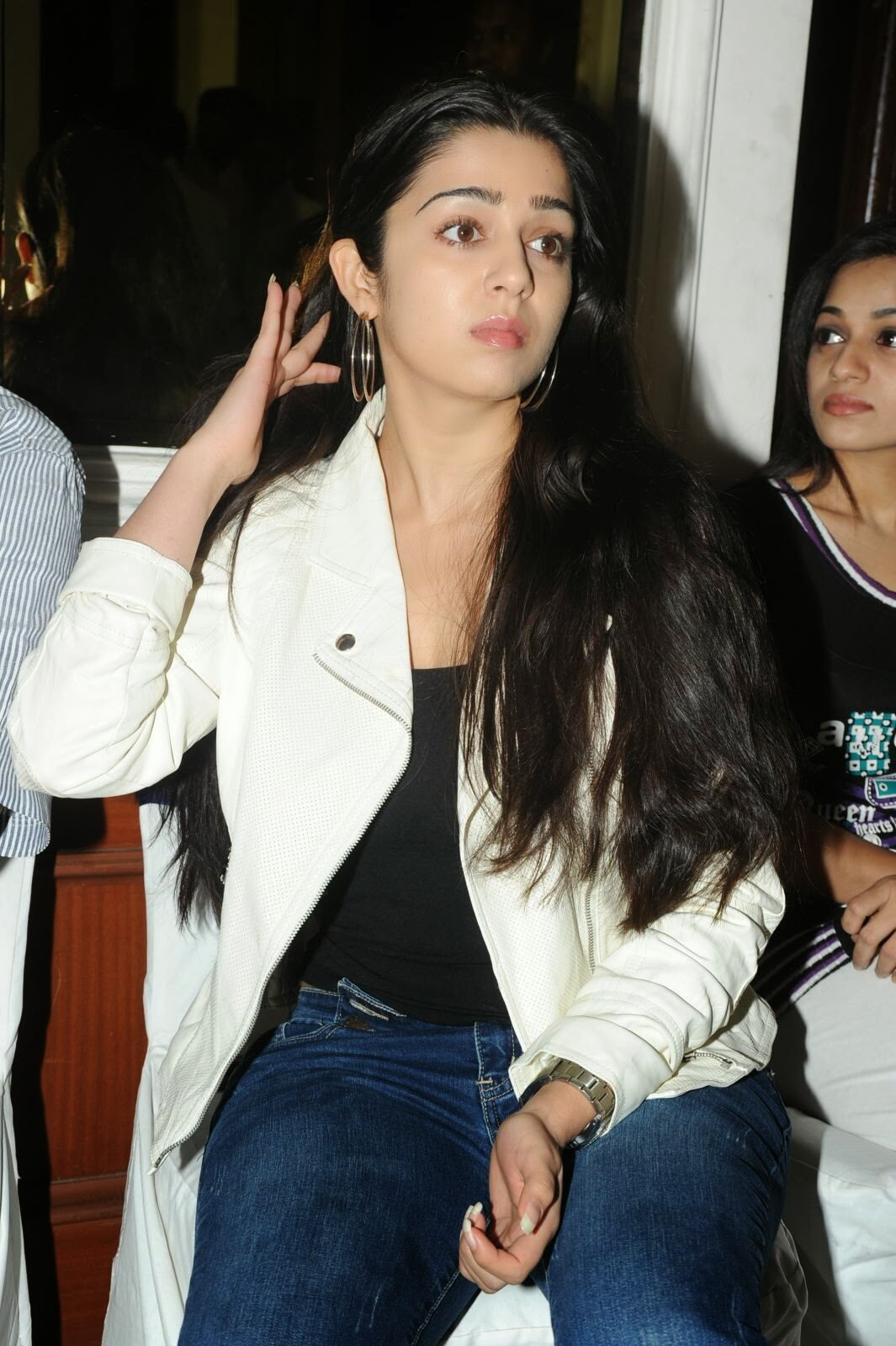 Actress Charmi Kaur Pictures in Jeans at One by Two Movie Celetes 20 Years Event  0158.jpg