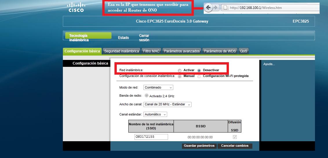 direccion router ya com: