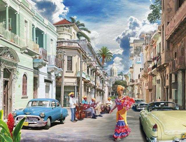 Cuban _Impressions_2000_parça_ravensburger_puzzle