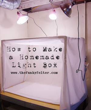 How to Make a Homemade Light Box Craft Tutorial by The Funky Felter