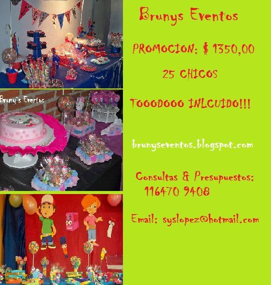Brunys eventos promociones mesas tematicas cumplea os for Mesas cumpleanos infantiles
