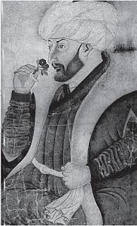 El sultán Mehmed II oliendo una rosa. Sinan Beg. Museo Topkapi. Lacasamundo.com