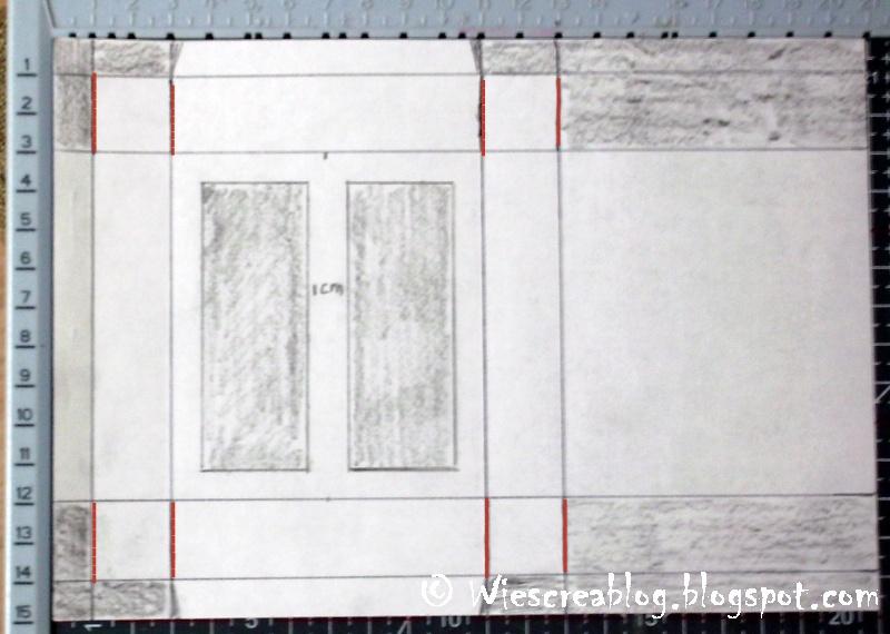 Wies creablog doosje van a5 met werkwijze tutorial - Grijs gekleurde ...