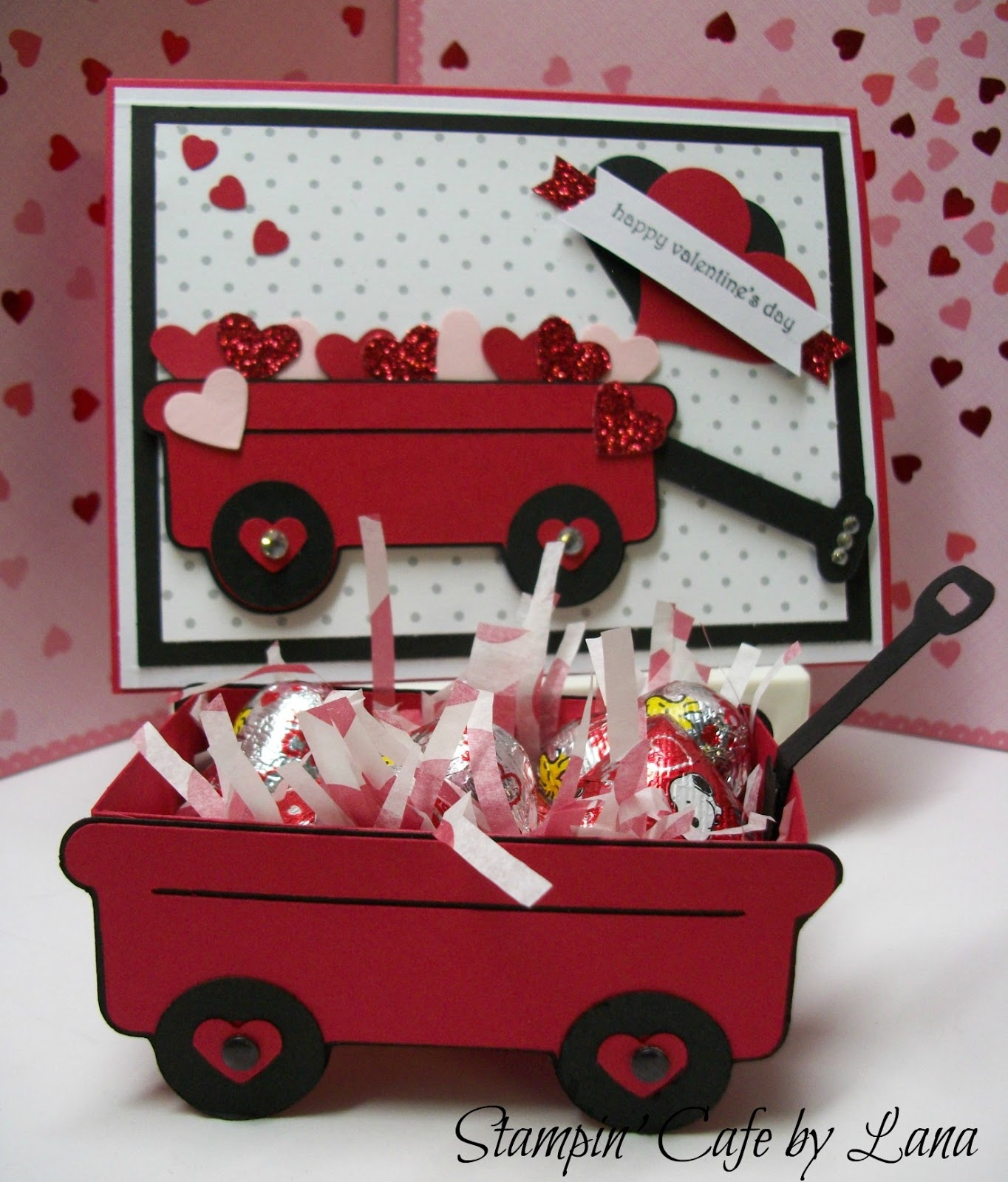 Stampin Cafe by Lana Valentine Wagon and Card – Cricut Valentines Cards