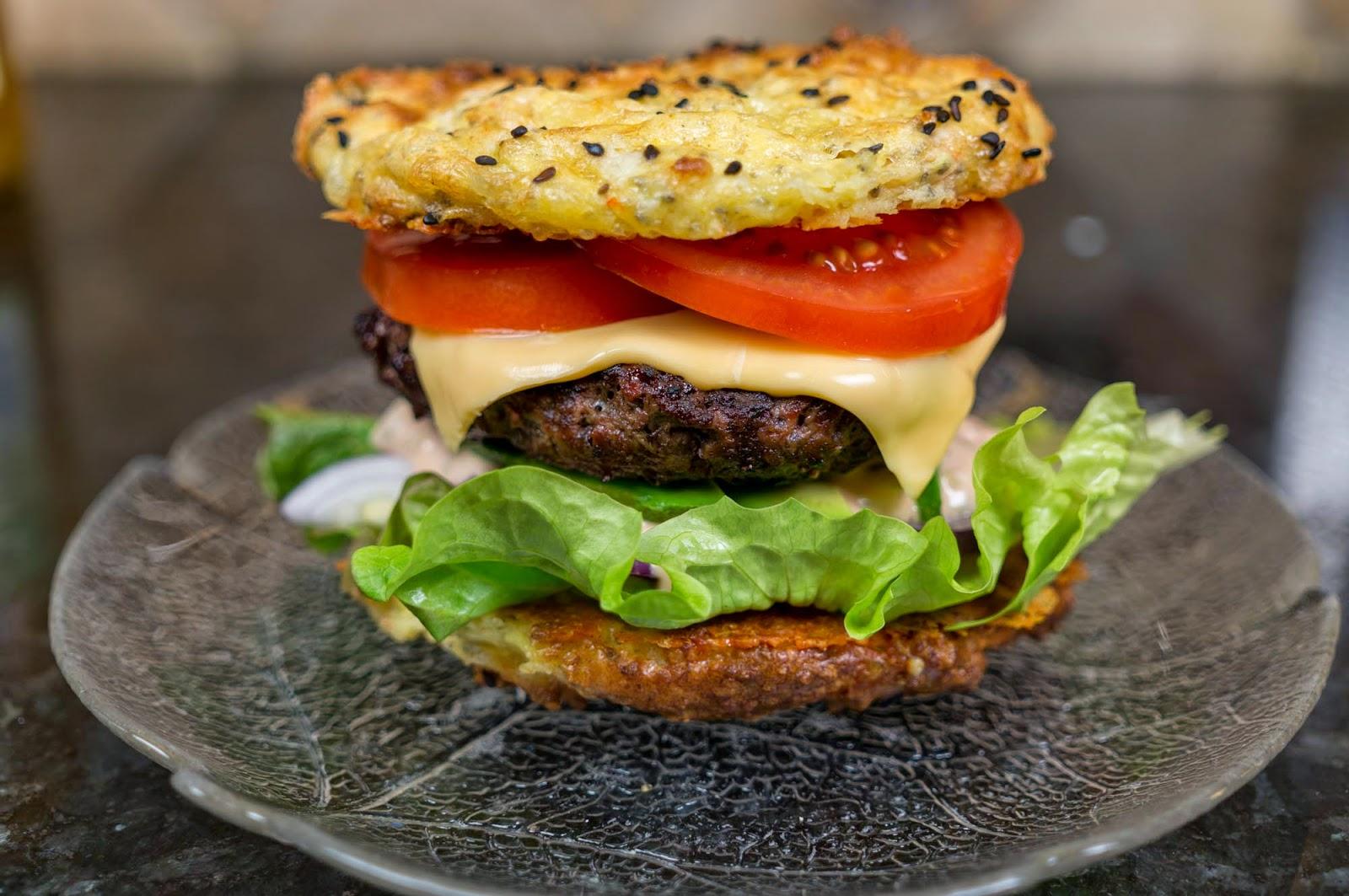 hamburgare med ostbröd
