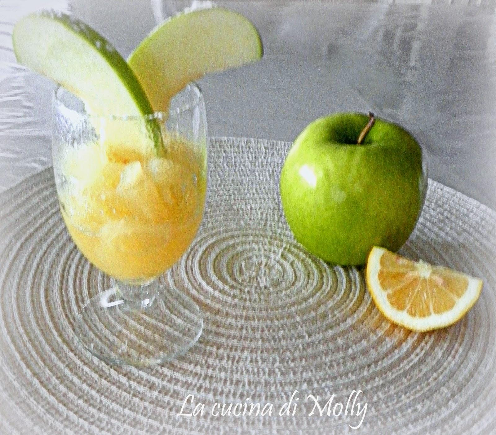 bicchieri di mele al calvados