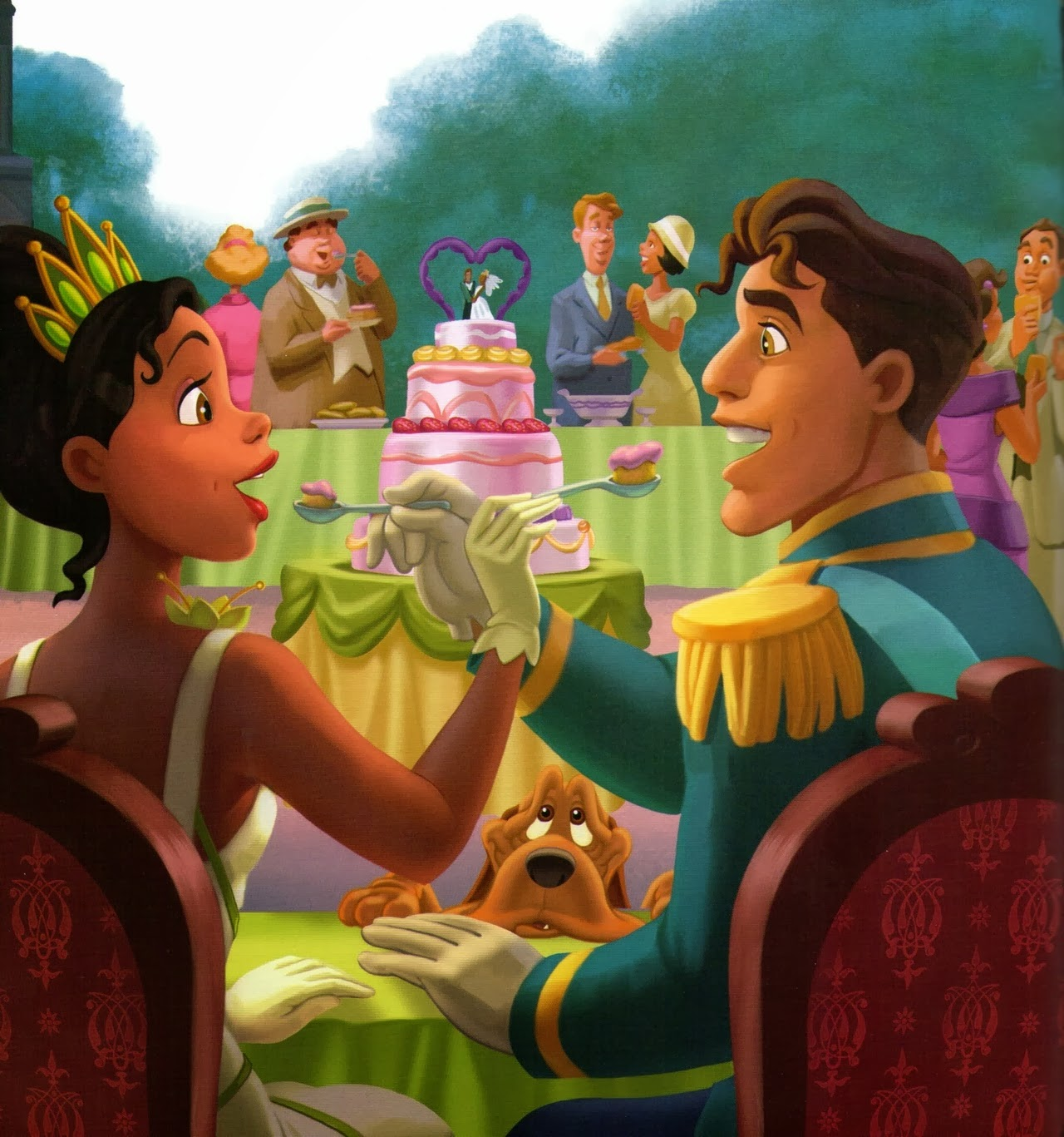 Tiana and naveen after wedding the princess and the frog wallpaper ...