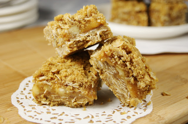 Caramel-Walnut Squares | The Kitchen is My Playground