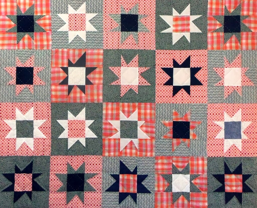 Orange explains it all: wonky star quilts