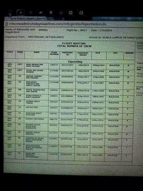 senarai krew mh17 yang terkorban apahell 1