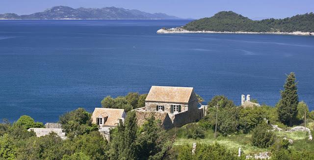 croatia coast croatian coastline ocean view historic limestone villa