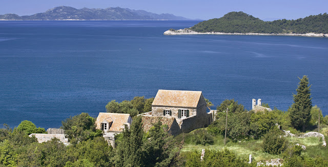 croatia coast croatian coastline ocean view historic limestone villa