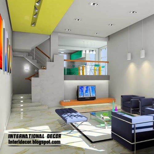 lighting design for small living room, ceiling lights