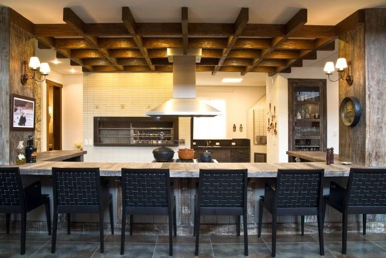 Fogão a lenha   veja lindos modelos em cozinhas modernas e ...