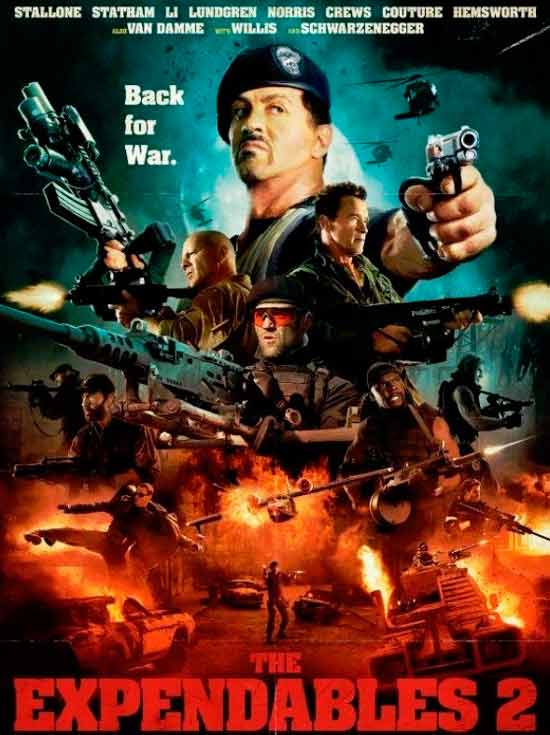 The Expendables 2 hd movie poster