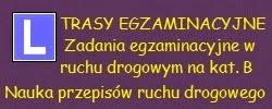 TRASY EGZAMINACYJNE ZADANIA