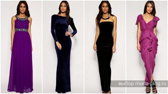 мода вечерние платья из шифона