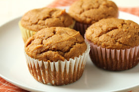 low-fructose sorghum pumpkin muffins sweetened with dextrose