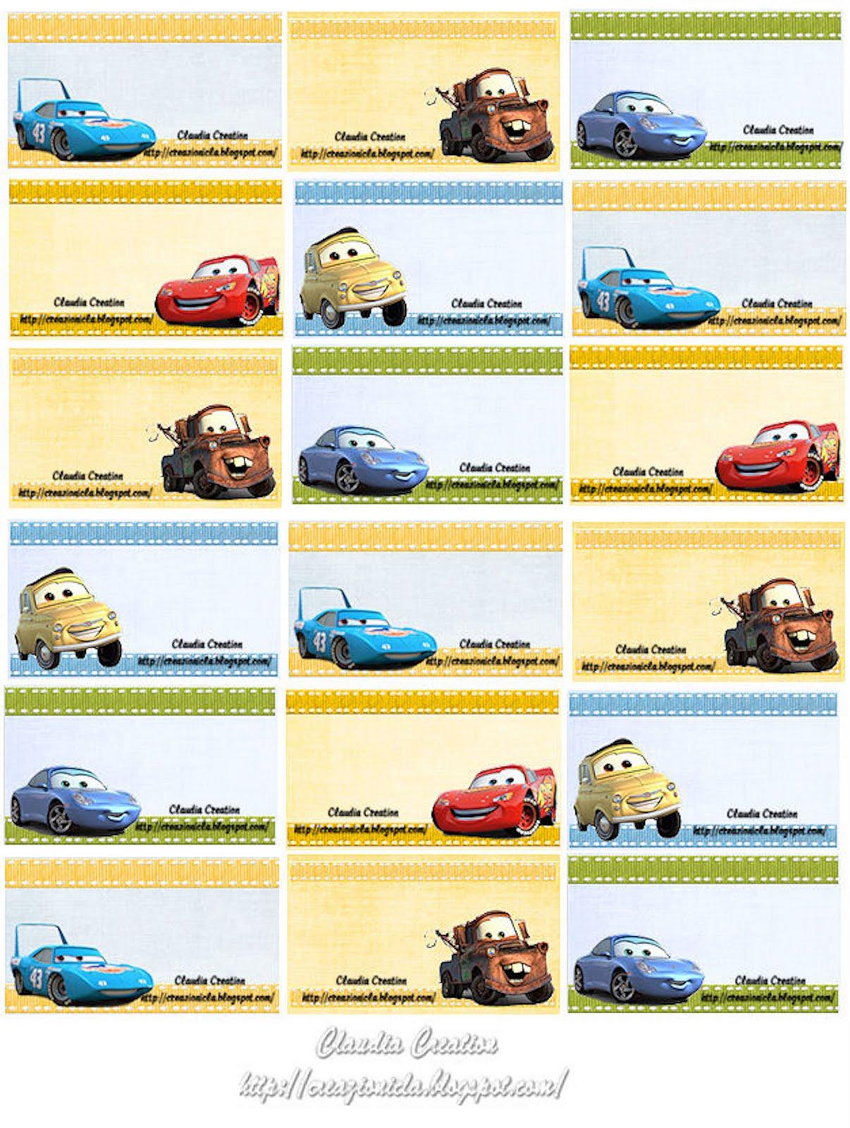 spesso il mio angolo creativo: Etichette scuola Cars ZJ29